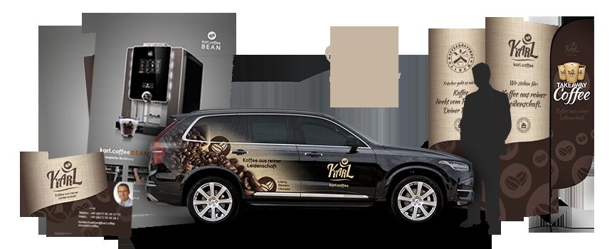 Digoo Karl Coffee Gmbh Corporate Design Logo
